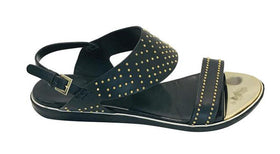 Nicholas Kirkwood Black Studded Leather Thong Sandals Size 35