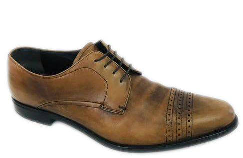 Prada Men's Brown Derby Lace Up Formal Shoes Size 9