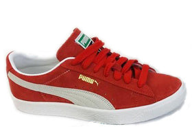 Puma Men's Suede VTG High Risk Red/White Size 8 (NWT)