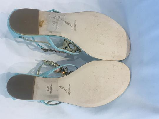 Rene Caovilla Blue Crystal-chandelier Sandals Size 37.5