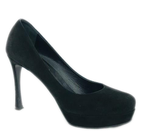Gucci Black Suede Platform Pumps Size 39.5