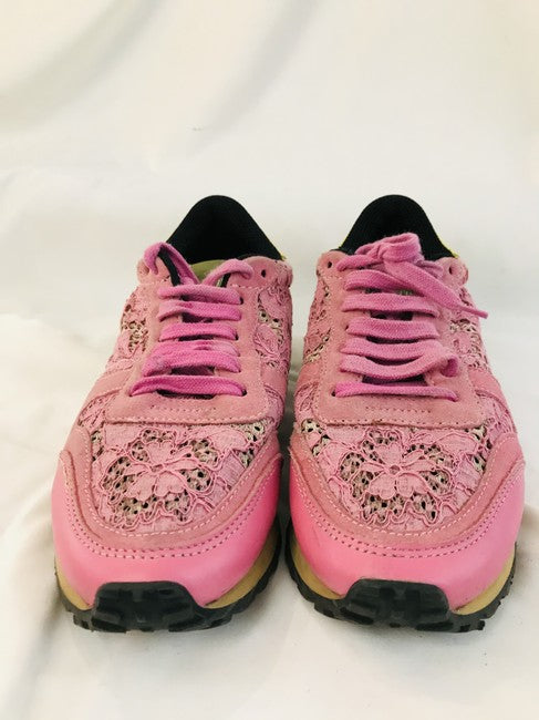 Valentino Pink Lace Sneakers Size 36