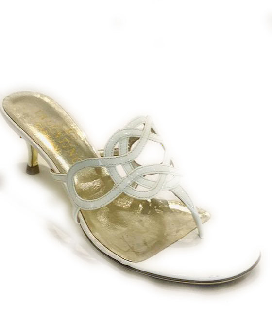 Valentino White Laser Cut Patent Sandals Size 36