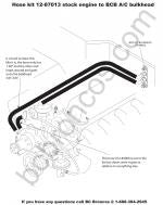 12-87013 Heater hose kit for stock engine to BCB A/C bulkhead for Early Ford Bronco