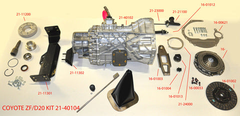 21-40104 ZF Transmission kit for Coyote with Dana20