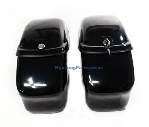 New Hard Trunk Saddlebags For Hyosung GV650 (Black)