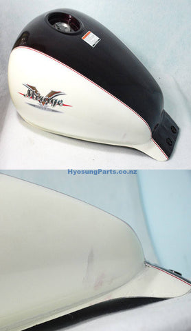 Hyosung  Fuel Gas Tank White Brown Hyosung GV125 GV250