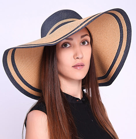 Large Brim Patchwork Beach Hat
