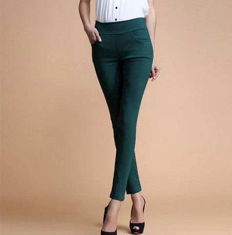 Low Waist  4 Pockets Cotton Trousers