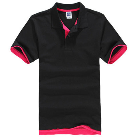 Plus Size Men's Jersey Polo