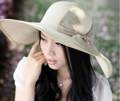 Fashion Bowknot  Straw Hat