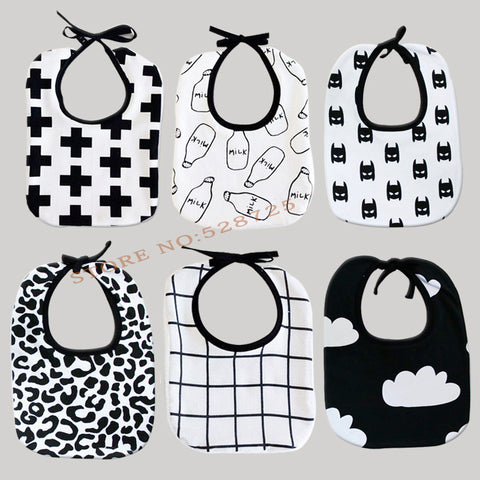 Black& White Baby Bibs - Buy All Means - 1