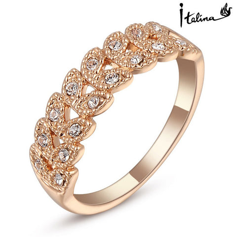 Rose Gold Plated Austrian Engagement Ring - Buy All Means