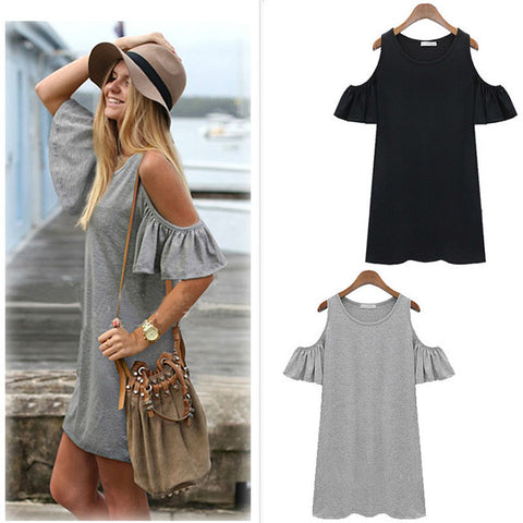 Short Sleeve Summer Beach Dresses - Buy All Means - 1