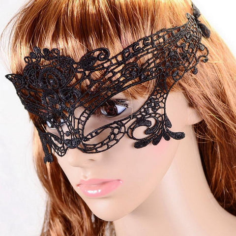 Lady Black Lace Mask Cat-woman