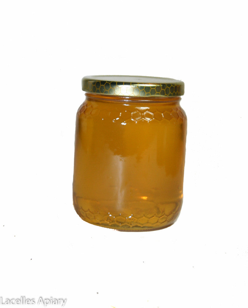 500gr, - Honey Jar- Honeycomb Imprint