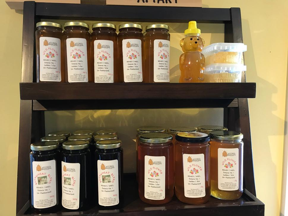 lots of honey for sale