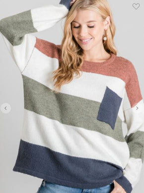 Desert Color Block Sweater