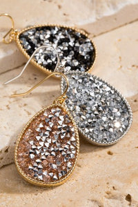Glitter Stone Earrings