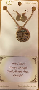 Happy Message Pendant Set