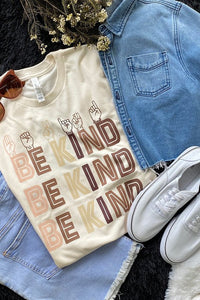 Be Kind Graphic Tee-Plus
