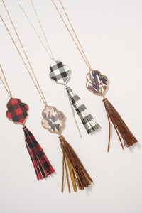 Plaid Necklace