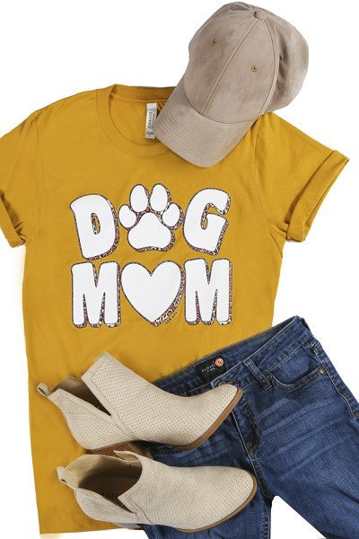 Dog Mom Graphic Tee-Plus
