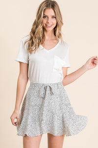 Dotted Skater Skirt-Plus