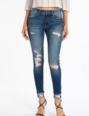 Gemma mid-rise ankle skinny