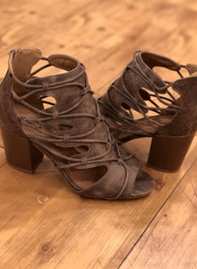 Taupe Caged Heel