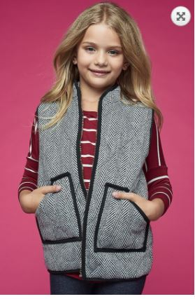 Herringbone Vest- Girls