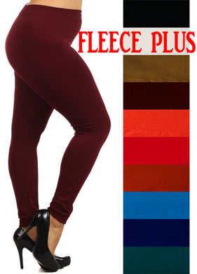 Fleece Lined Leggings-Plus