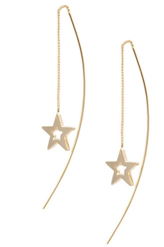 Star Dropping Earrings