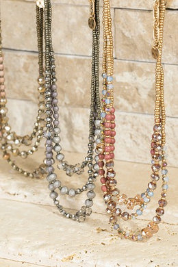 Three Layer Bead Necklace