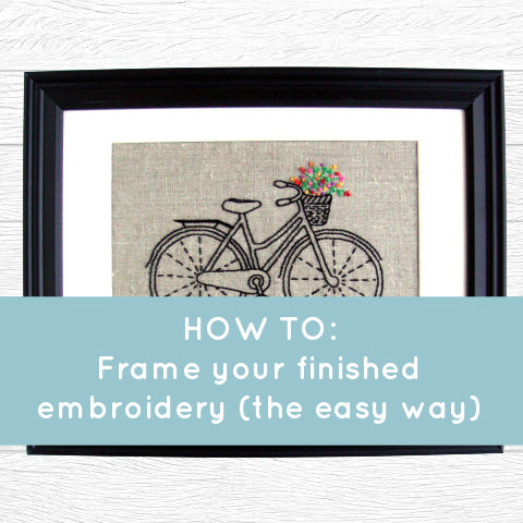 How to: frame a finished embroidery (the easy way)