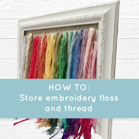 How I store embroidery thread - the pretty and functional way!