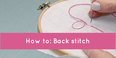 Video: How to do back stitch