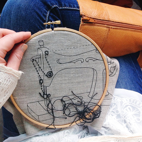 Embroidery, lace, and boots.