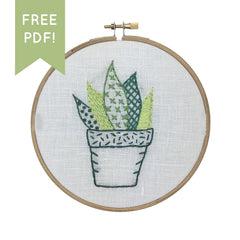 PLANT beginner embroidery pattern by I Heart Stitch Art