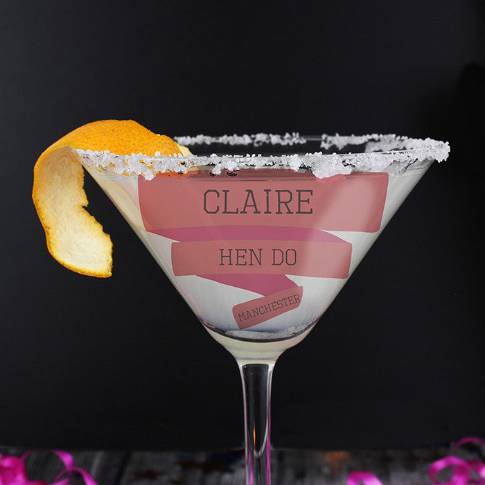 Personalised Glass - Cocktail Female