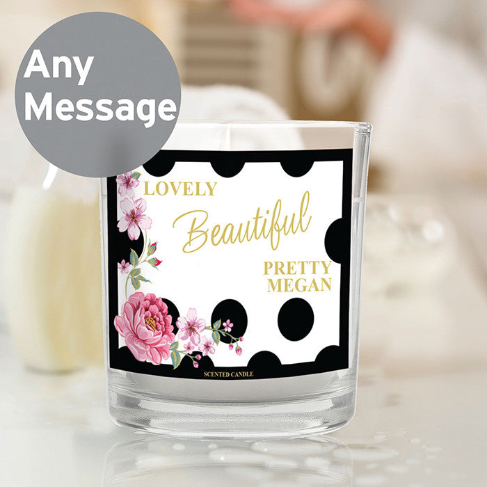 Personalised jar candle
