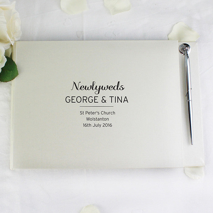 Personalised classic guest book