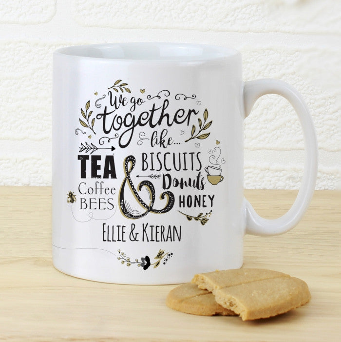 Personalised we go together mug