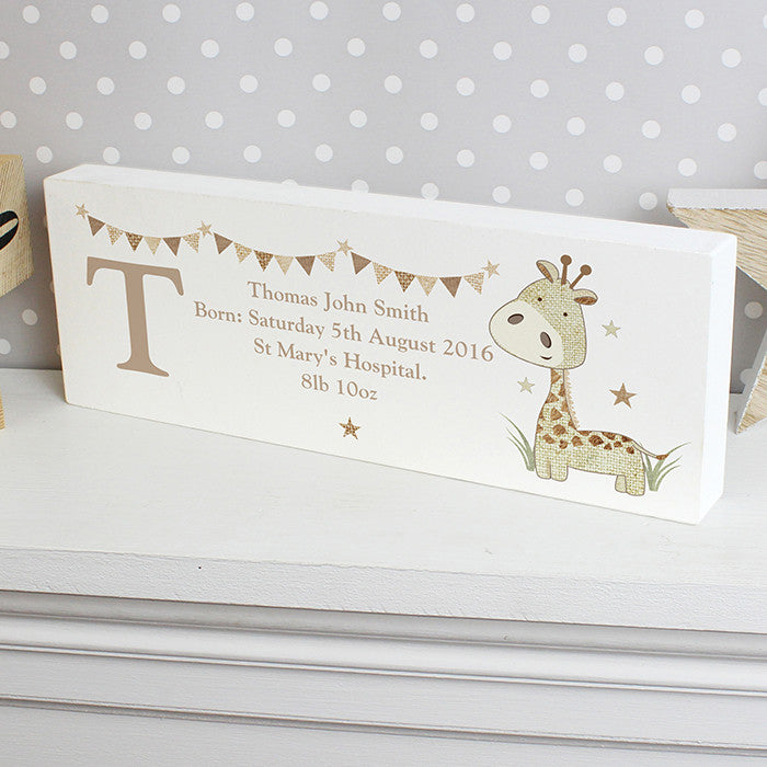 Personalised free standing block