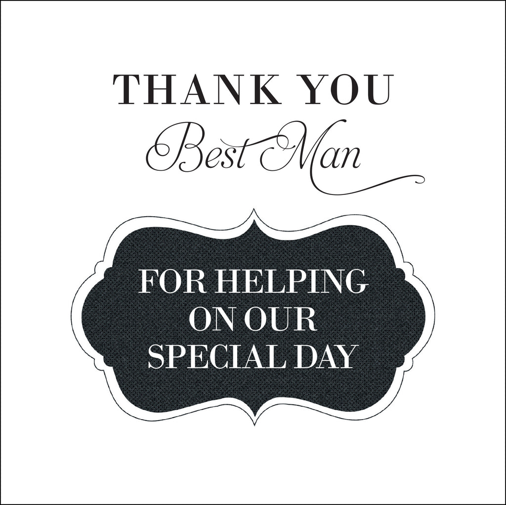 Thank you best man greeting card