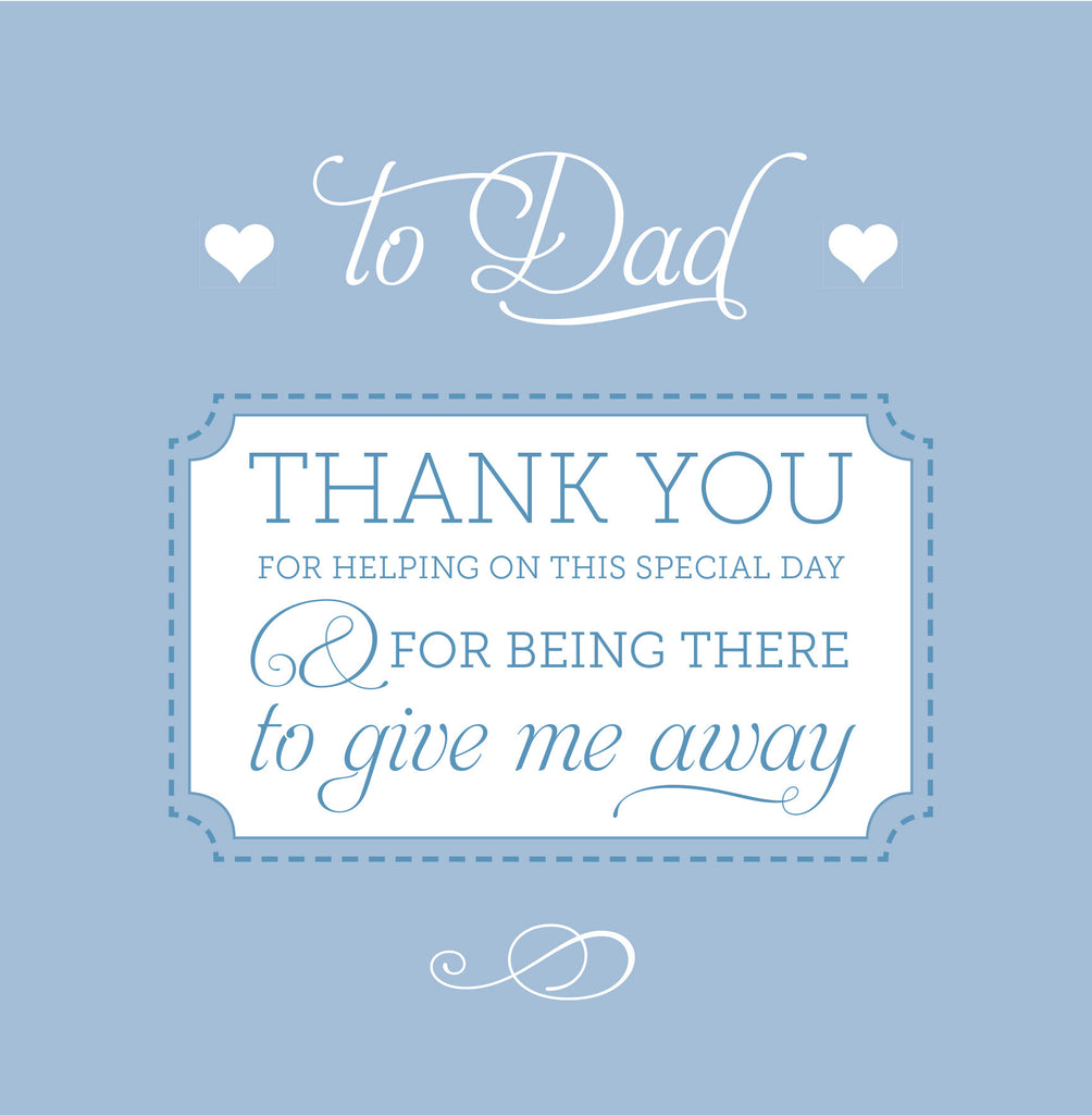 Thank you Dad for giving me away card