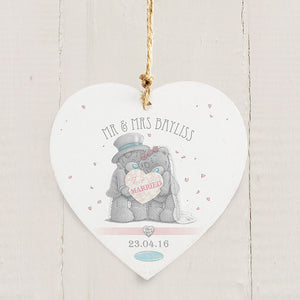 Personalised me to you hanging wedding heart