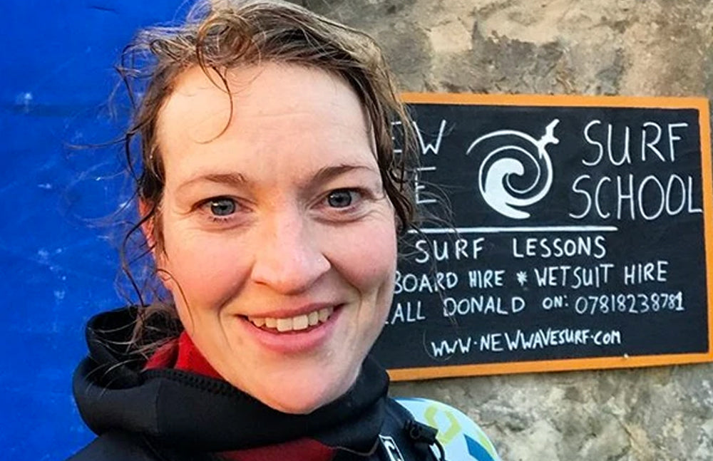 All the endorphines! Ambassador Nikki Yoxall learns to surf