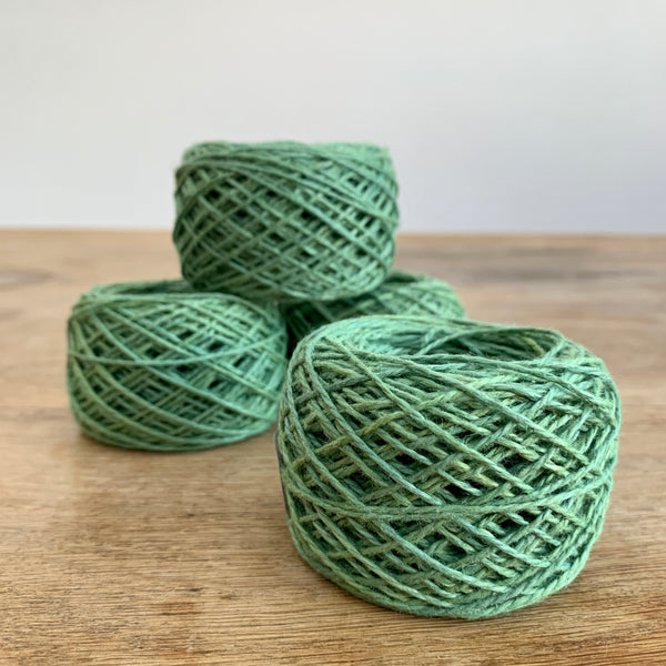 Naturally Dyed 8/2 Linen, Sage
