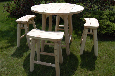 "46"" High-Top Table Set W/4 Stools"